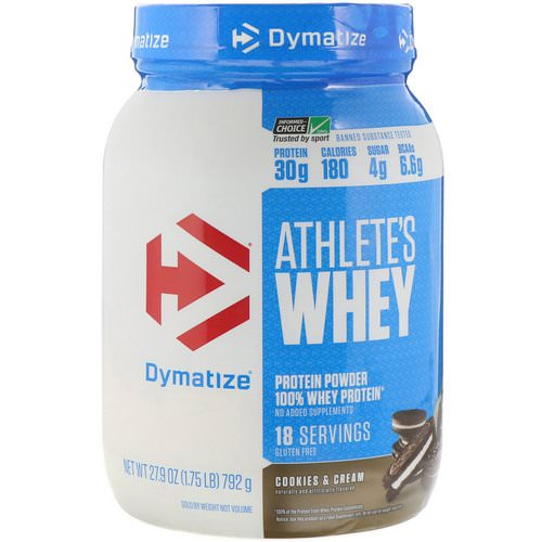 Dymatize Nutrition, Athlete's Whey, Cookies & Cream, 1.75 lb (792 g) Review