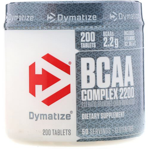 Dymatize Nutrition, BCAA Complex 2200, Branched Chain Amino Acids, 200 Caplets Review