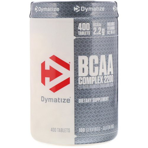 Dymatize Nutrition, BCAA Complex 2200, Branched Chain Amino Acids, 400 Tablets Review