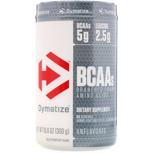 Dymatize Nutrition, BCAAs, Branched Chain Amino Acids, Unflavored, 10.6 oz (300 g) Review