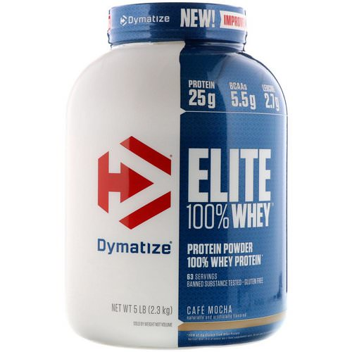 Dymatize Nutrition, Elite, 100% Whey Protein Powder, Cafe Mocha, 5 lbs (2.27 kg) Review