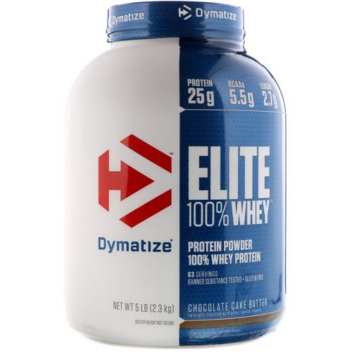 Dymatize Nutrition, Elite, 100% Whey Protein Powder, Chocolate Cake Batter, 5 lbs (2.3 kg) Review