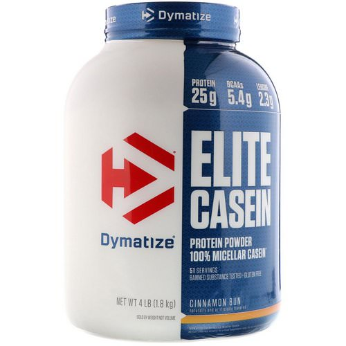 Dymatize Nutrition, Elite Casein, Cinnamon Bun, 4 lb (1.8 kg) Review