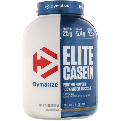 Dymatize Nutrition, Elite Casein, Cookies & Cream, 4 lbs (1.8 kg) Review