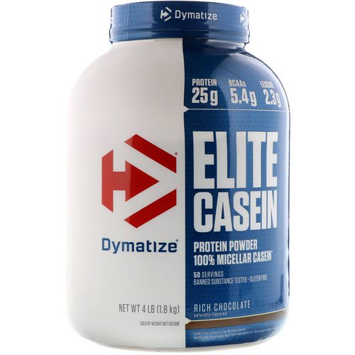 Dymatize Nutrition, Elite Casein, Rich Chocolate, 4 lbs (1.8 kg) Review