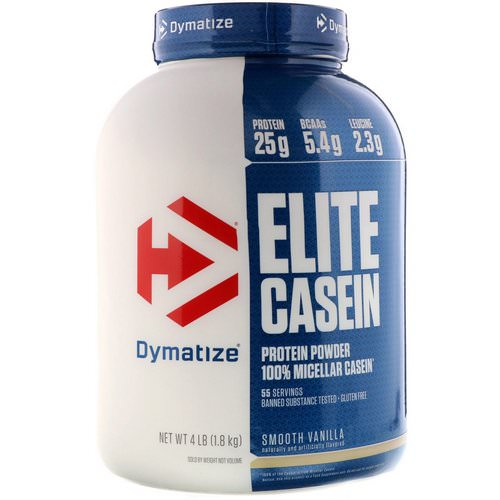 Dymatize Nutrition, Elite Casein, Smooth Vanilla, 4 lb (1.8 kg) Review