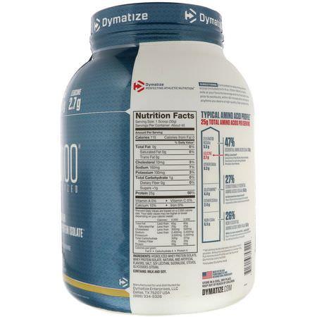 Dymatize Nutrition Whey Protein Isolate Birthday Cake