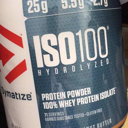 ISO 100 Hydrolyzed, Whey Protein Isolate, Chocolate Peanut Butter
