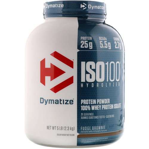 Dymatize Nutrition, ISO-100 Hydrolyzed, 100% Whey Protein Isolate, Fudge Brownie, 5 lbs (2.3 kg) Review