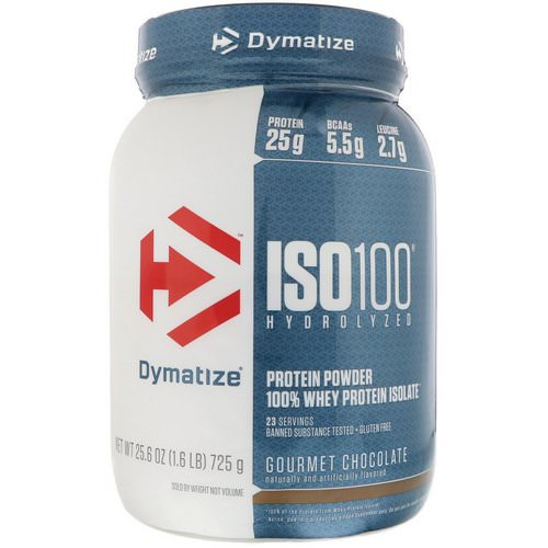 Dymatize Nutrition, ISO 100 Hydrolyzed, 100% Whey Protein Isolate, Gourmet Chocolate, 1.6 lbs (725 g) Review