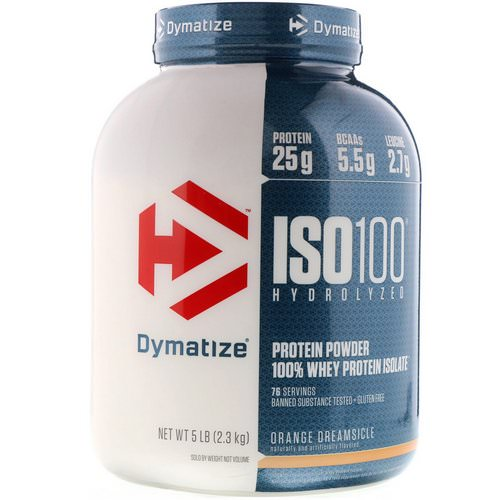 Dymatize Nutrition, ISO 100 Hydrolyzed, 100% Whey Protein Isolate, Orange Dreamsicle, 5 lbs (2.3 kg) Review