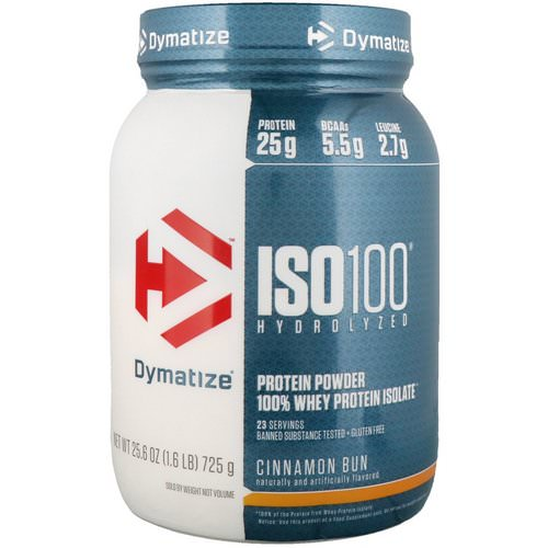 Dymatize Nutrition, ISO100 Hydrolyzed, 100% Whey Protein Isolate, Cinnamon Bun, 1.6 lbs (725 g) Review