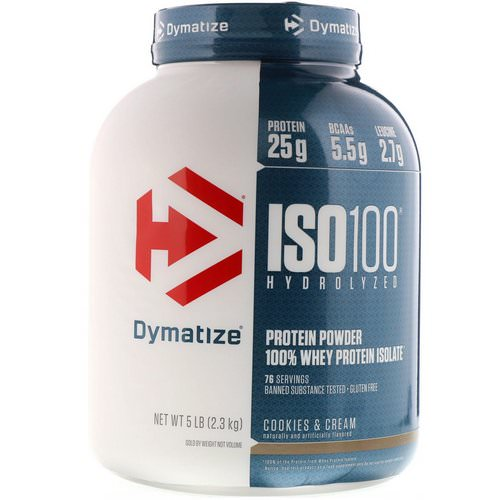 Dymatize Nutrition, ISO100 Hydrolyzed, 100% Whey Protein Isolate, Cookies & Cream, 5 lbs (2.3 kg) Review