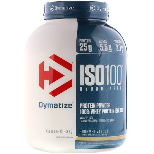 Dymatize Nutrition, ISO100 Hydrolyzed, 100% Whey Protein Isolate, Gourmet Vanilla, 5 lbs (2.3 kg) Review