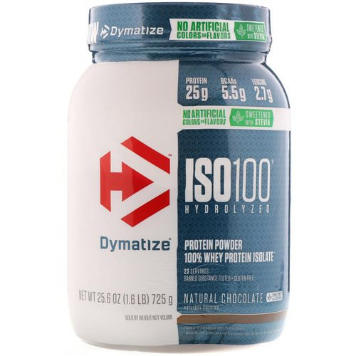 Dymatize Nutrition, ISO100 Hydrolyzed, 100% Whey Protein Isolate, Natural Chocolate, 1.6 lbs (725 g) Review
