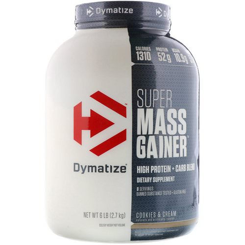 Dymatize Nutrition, Super Mass Gainer, Cookies & Cream, 6 lbs (2.7 kg) Review