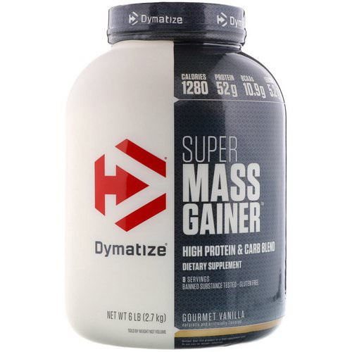 Dymatize Nutrition, Super Mass Gainer, Gourmet Vanilla, 6 lbs (2.7 kg) Review