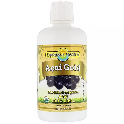 Dynamic Health Laboratories, Certified Organic Acai Gold, 100% Juice, 32 fl oz (946 ml) Review