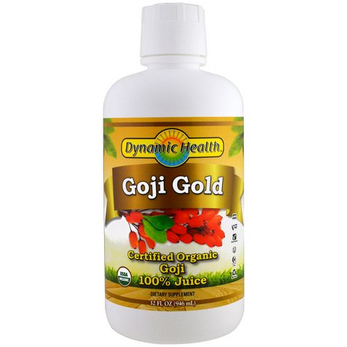 Dynamic Health Laboratories, Certified Organic Goji Gold, 100% Juice, 32 fl oz (946 ml) Review