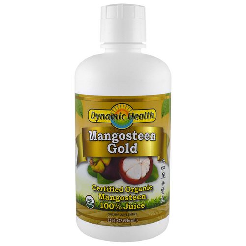 Dynamic Health Laboratories, Certified Organic Mangosteen Gold, 100% Juice, 32 fl oz (946 ml) Review