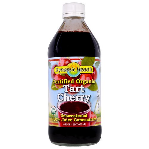 Dynamic Health Laboratories, Certified Organic Tart Cherry, 100% Juice Concentrate, Unsweetened, 16 fl oz (473 ml) Review