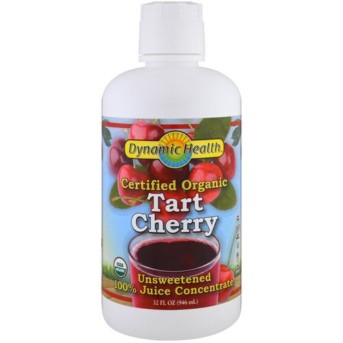 Dynamic Health Laboratories, Certified Organic Tart Cherry, 100% Juice Concentrate, Unsweetened, 32 fl oz (946 ml) Review