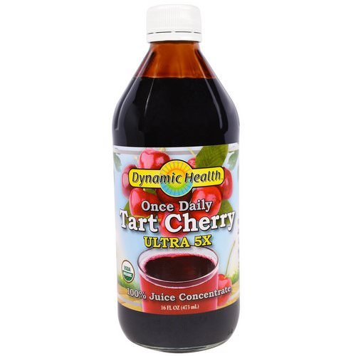 Dynamic Health Laboratories, Once Daily Tart Cherry, Ultra 5X, 100% Juice Concentrate, 16 fl oz (473 ml) Review