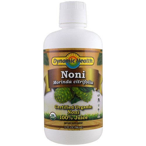 Dynamic Health Laboratories, Organic Certified Noni, 100% Juice, 32 fl oz (946 ml) Review