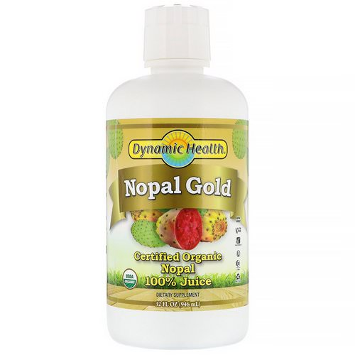 Dynamic Health Laboratories, Certified Organic Nopal Gold, 100% Juice, 32 fl oz (946 ml) Review