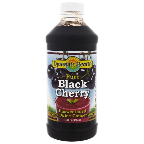 Dynamic Health Laboratories, Pure Black Cherry, 100% Juice Concentrate, Unsweetened, 16 fl oz (473 ml) Review