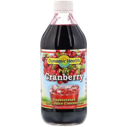 Dynamic Health Laboratories, Pure Cranberry, 100% Juice Concentrate, Unsweetened, 16 fl oz (473 ml) Review