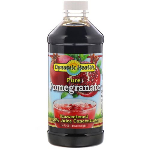 Dynamic Health Laboratories, Pure Pomegranate, 100% Juice Concentrate, Unsweetened, 16 fl oz (473 ml) Review
