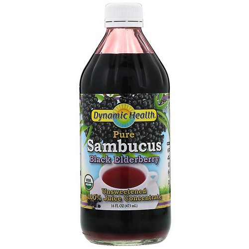 Dynamic Health Laboratories, Pure Sambucus Black Elderberry, 100% Juice Concentrate, Unsweetened, 16 fl oz (473 ml) Review