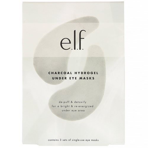 E.L.F, Charcoal Hydrogel Under Eye Masks, 3 Piece Set Review