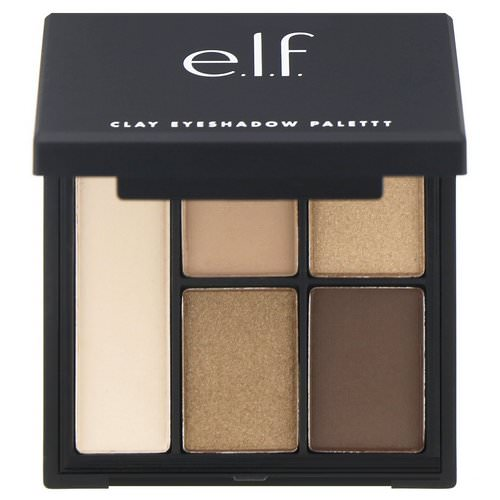 E.L.F, Clay Eyeshadow Palette, Necessary Nudes, 0.26 oz (7.5 g) Review