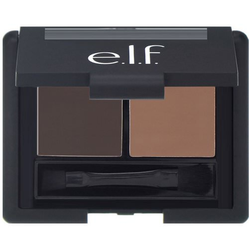 E.L.F, Eyebrow Kit, Gel & Powder, Dark, Gel 0.05 oz (1.4 g) Powder 0.08 oz (2.3 g) Review