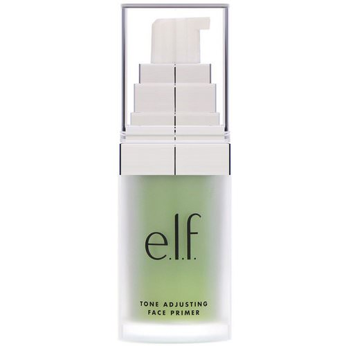 E.L.F, Tone Adjusting Face Primer, Neutralizing Green, 0.48 oz (13.7 g) Review