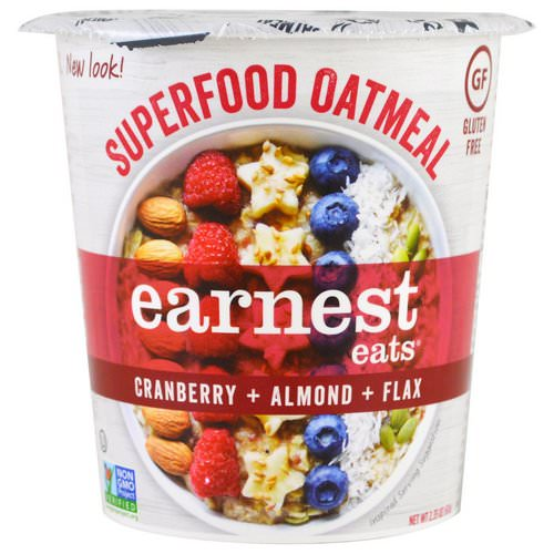 Earnest Eats, Superfood Oatmeal, Cranberry + Almond + Flax, American Blend, 2.35 oz (67 g) Review