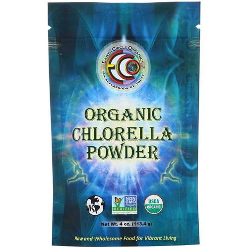 Earth Circle Organics, Organic Chlorella Powder, 4 oz (113.4 g) Review