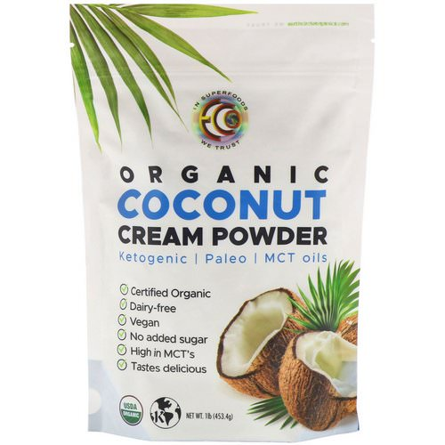 Earth Circle Organics, Organic Coconut Cream Powder, 1 lb (453.4 g) Review