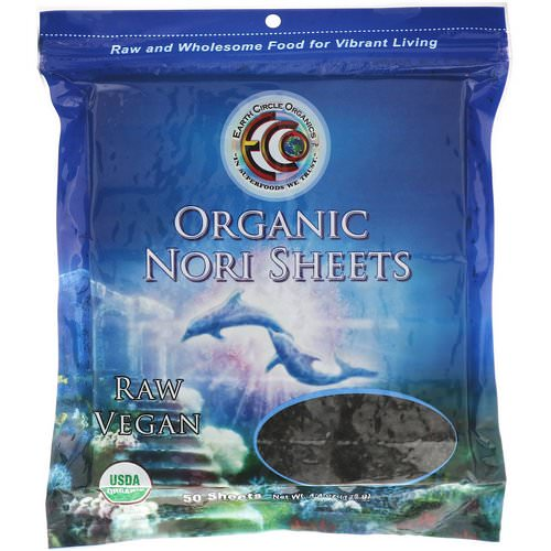 Earth Circle Organics, Organic Nori Sheets, 50 Sheets, 4.4 oz (125 g) Review