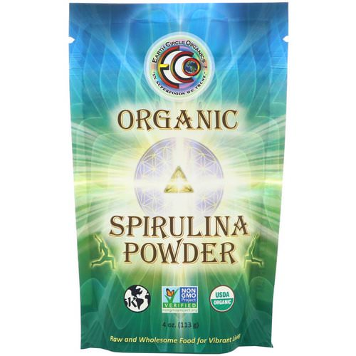 Earth Circle Organics, Organic Spirulina Powder, 4 oz (113 g) Review