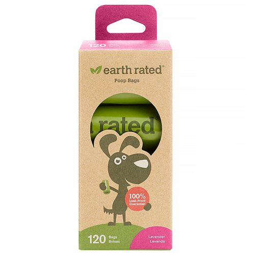 Earth Rated, Dog Waste Bags, Lavender Scented, 120 Bags, 8 Refill Rolls Review