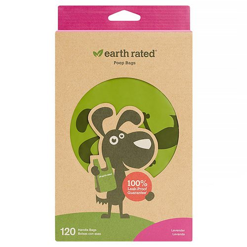 Earth Rated, Handle Bags, Dog Waste Bags, Lavender Scented, 120 Bags Review