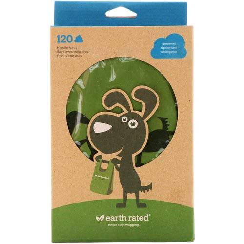 Earth Rated, Handle Bags, Dog Waste Bags, Unscented, 120 Bags Review