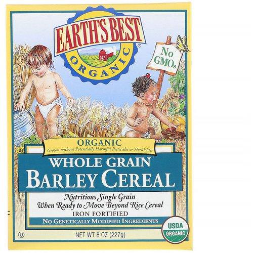 Earth's Best, Organic Whole Grain Barley Cereal, 8 oz (227 g) Review