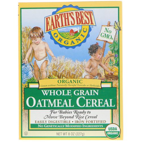 Earth's Best, Organic Whole Grain Oatmeal Cereal, 8 oz (227 g) Review