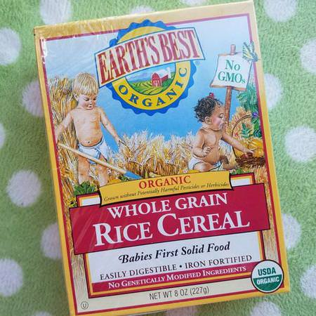 Earth's Best, Organic, Whole Grain Rice Cereal, 8 oz (227 g) Review