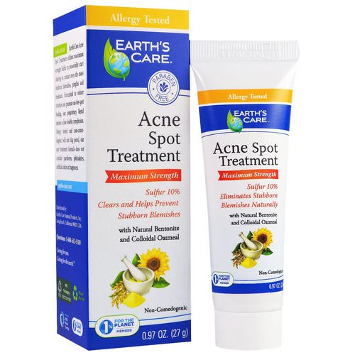 Earth's Care, Acne Spot Treatment, Maximum Strength, 0.97 oz (27 g) Review