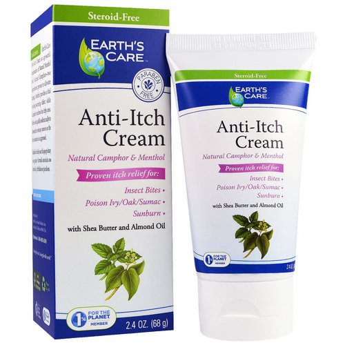 Earth's Care, Anti-Itch Cream, with Shea Butter and Almond Oil, 2.4 oz (68 g) Review